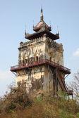 Nanmyin 在因瓦古城,曼德勒缅甸的瞭望塔 — 图库照片