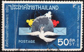 THAILAND - CIRCA 1967: stamp printed in Thailand shows. International Letter Writing Week circa 1967. — Stock Photo