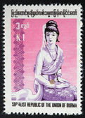 Myanmar (Burma) stamp — Stock Photo
