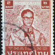 THAILAND - CIRCA 1970: A stamp printed in Thailand shows King Bhumibol Adulyadej, circa 1970 — Stock Photo