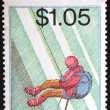 NEW ZEALAND - CIRCA 1987: stamp printed by New Zealand, shows Tourism, Mountain climbing, circa 1987 — Stock Photo