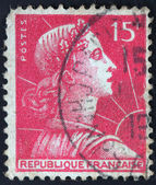 French stamp from France (in European Union) — Stock Photo