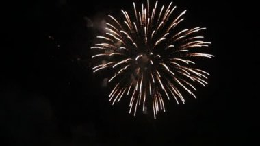 Fireworks display with sound Stock video: — Stock Video