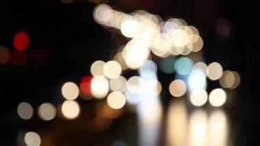 Ufuk gece trafik ışıkları-bangkok — Stok video