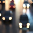 Defocused night traffic lights-Bangkok — Stock Video