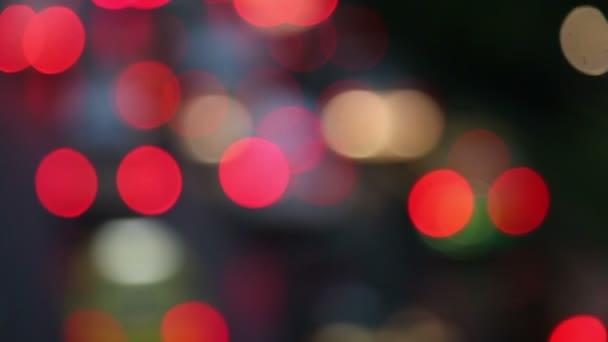 Feux de nuit défocalisé-bangkok — Vidéo