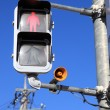 Traffic light for pedestrians — Stock Photo