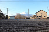 View of Mount Fuji from Kawaguchiko in march. — Foto Stock