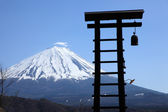 View of Mount Fuji from Saiko Iyashino-Sato Nenba — Stock Photo