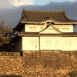Stock Photo: Look out tower on the wall of the moat surrounding Osaka Castle