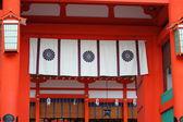 Detail roof Fushimi Inari, Kyoto, Japan — Stock Photo