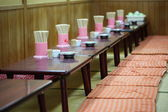 Tables in empty cafe — Foto de Stock