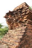 Detalj av förstörda mingun pagoda — Stockfoto