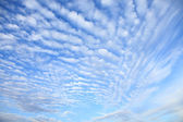 White fluffy clouds — Stock Photo