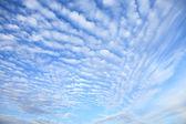 Kabarık beyaz bulutlar — Stok fotoğraf