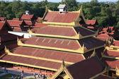 Detail of Mandalay palace — Stock Photo