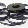 Stock Photo: 8 mm film strip