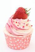 いちごのカップケーキ — ストック写真