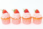 Vanilla cupcakes — Stock Photo