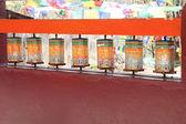 Colored prayer wheels — Stock Photo