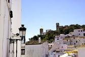 Blick auf spanische weiße typischen dorf — Stockfoto