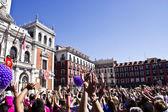 Plaza mayor in Valladolid — Stock Photo