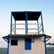 Lifeguard cabin in spanish coast — Stock Photo