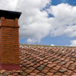 Stock Photo: Chimney with stormy weather
