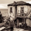 Ohrid, Macedonia, old ruined traditional house — Stock Photo #32035983