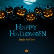 "Postcard ""Happy Helloween"" — Stock Photo"