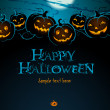 Postcard Happy Helloween — Foto de Stock