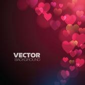 Abstrait avec des coeurs roses — Vecteur