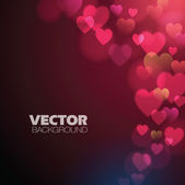 Fondo abstracto con corazones de color rosa — Vector de stock