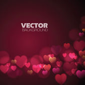 Abstract Background with pink hearts — Stock Vector