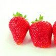 Red strawberry on white background — Stock Video