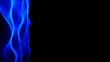 Abstract waving blue background, blurred motion effect on black background — Stock Video