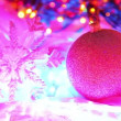 Beautiful Christmas backgrounds, colorful balls on defocused lights background — Stock Video