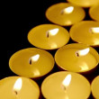 Candles background, prayer telight candles, dolly-shot — Stock Video #33228501