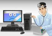 PC doctor — Stock Vector