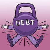Hard debt. — Stock Vector