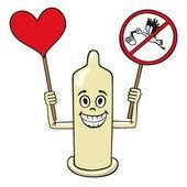 Condom. — Stock Vector