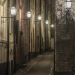 Old Town street at night. — Stock Photo