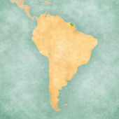 Map of South America - French Guiana (Vintage Series) — Stock Photo