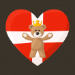 Danish Royal Teddy Bear — Stock Vector