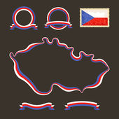 Colors of Czech Republic — Stock Vector