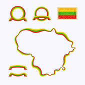 Colors of Lithuania — Stock Vector