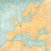 Map of Europe - Belgium (Vintage Series) — Stock Photo