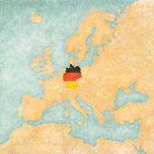 Map of Europe - Germany (Vintage Series) — Stok fotoğraf