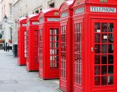 Phone boxes London — Stock Photo