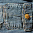 Blue jean denim pocket detail — Stock Photo